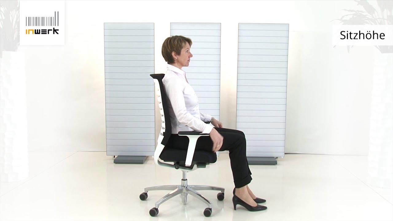 Bürostuhl ergonomisch einstellen  Bürostuhl-Lumbalstütze richtig einstellen - Inwerk Ergonomie ...