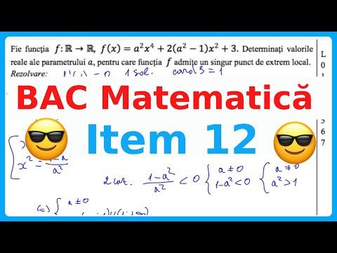 Învățăm Să Rezolvăm ITEM 12 BAC MATEMATICA EXAMEN.MD