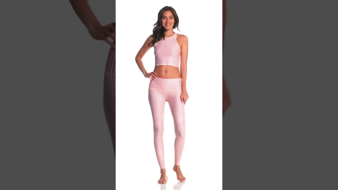 4c2a409dc6ce9a Teeki Candy Cane Hot Yoga Pants | SwimOutlet.com - YouTube