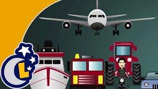 La Canción De Los Transportes para Niños . Canciones Infantiles . Videos Educativos Lunacreciente