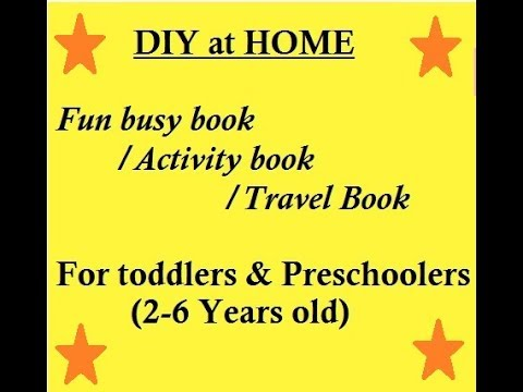 Travel/Activity book for almost 3 year old