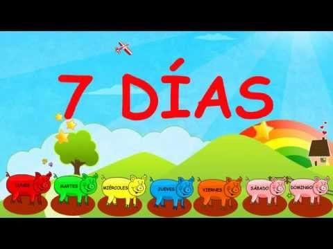 Canci�n infantil Los d�as de la semana - The days of the week en espa�ol