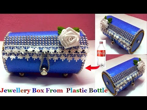 Easy Jewellery Box/Bangle box/Valentine Gift Box from waste plastic bottle Best out of waste