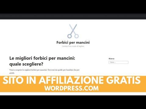 Creare sito in affiliazione Amazon GRATIS con Wordpress.com [CASO STUDIO]