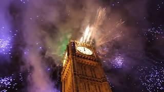 London Big Ben UK New Years Fireworks HD