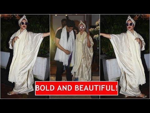 Iconic actor Rekha slays in a shimmery silk kaftan Mp3