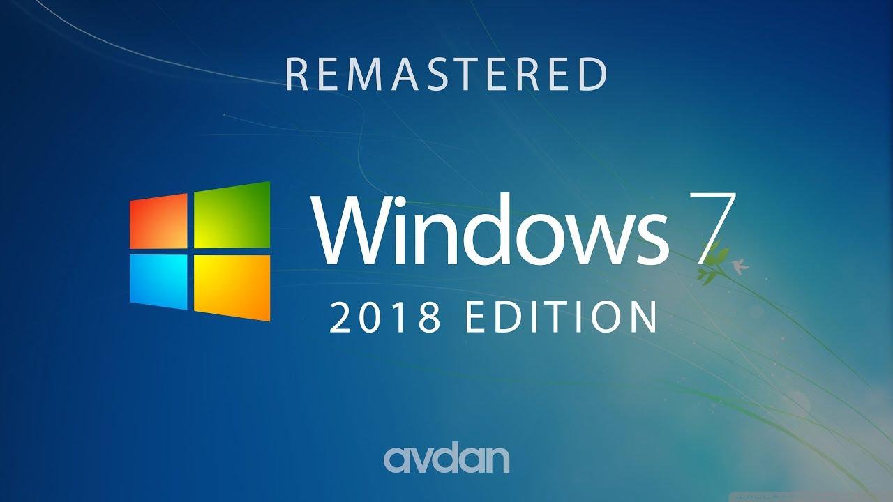 Windows 7 2018 Edition Concept Design By Avdan Youtube