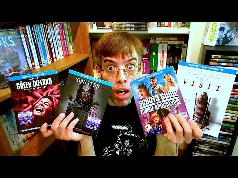 My Horror Collection Update 12/24/15 Blu ray and Dvd Movie Reviews