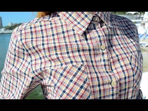 Рубашка женская клетчатая, длинный рукав AG-0003083