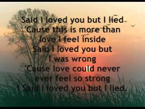 Said I Love You But I Lied   Michael Bolton   Lyrics on screen 2