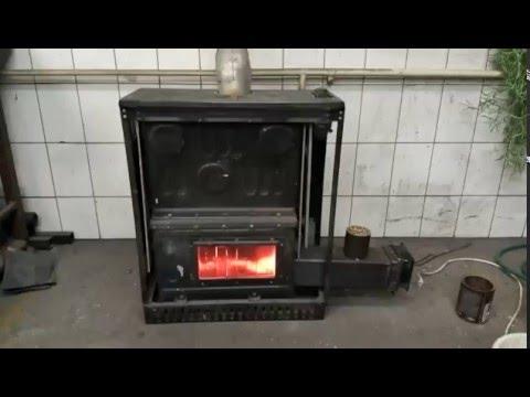 DIY - Gravity fed pellet burner installed on old gas stove pt-2