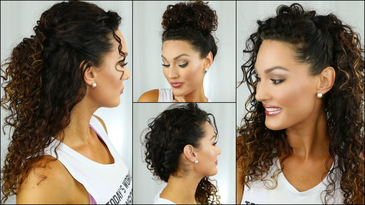 how to style curly hair for school easy back to school curly hairstyles 6193