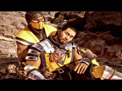 MORTAL KOMBAT 11 - Death of Scorpion Master Hasashi Cutscene (MK11 2019) PS4 Pro