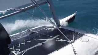 Catamaran Capsize - Evans Bay