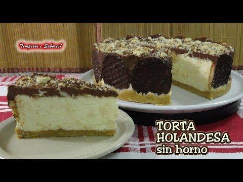 TORTA HOLANDESA CON CHOCOLATE SIN HORNO, deliciosa y muy fácil