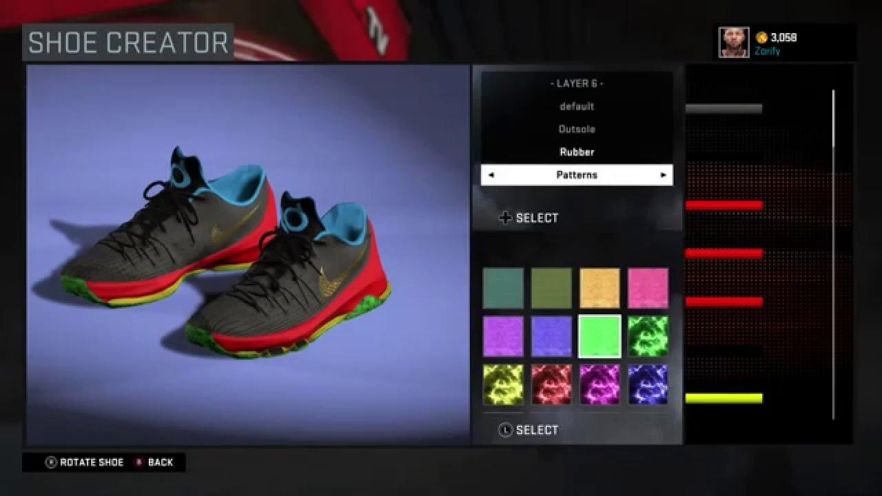 5cb2549bdb3 NBA 2K16 Shoe Creator - Nike KD 8
