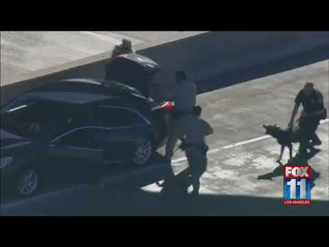 Pursuit of reckless driver ends in West LA