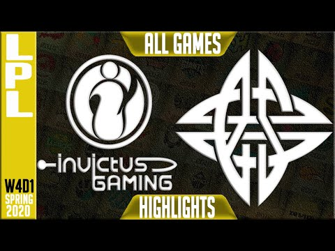 IG Vs ES Highlights ALL GAMES | LPL Spring 2020 W4D1 | Invictus Gaming Vs EStar
