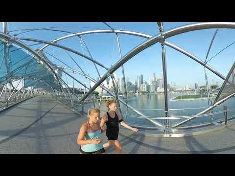 [4K 360°] Walking around Singapore Merlion, Esplanade, Marina Bay Sands | Madventure 360 Mi Sphere