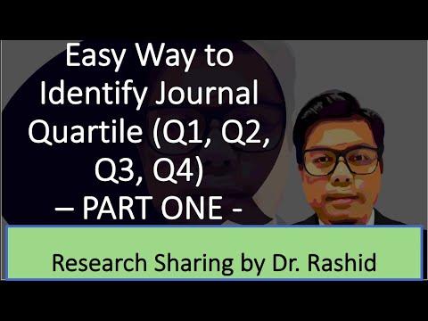 Easy Way to Identify Journal Quartile (Q1, Q2, Q3, Q4) - PART ONE