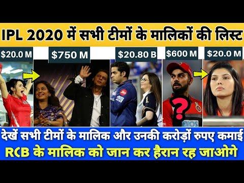 IPL 2020 : देखें IPL की सभी 8 टीमों के मालिक, RCB जे मालिक का नाम जान कर हैरान रह जाएंगे।