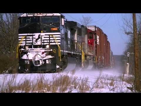 Railfanning in Fort Edward and Hudson Falls, NY on the D&H North End and Glens Falls Branch 12/16/13