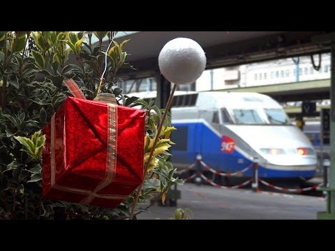 Joyeux Noël dans les gares parisiennes
