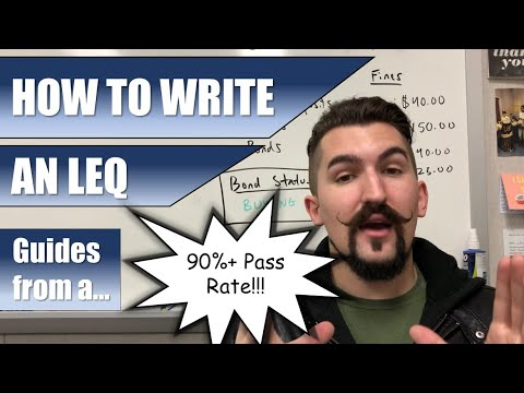 How To Write An LEQ   2019   AP World, AP Euro, & APUSH