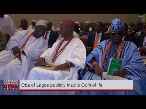 PUBLIC DISGRACE! OBA OF LAGOS PUBLICLY INSULTS OONI OF IFE