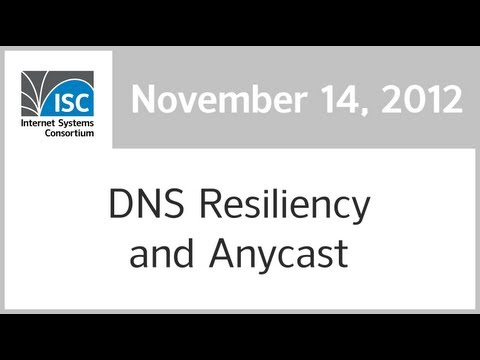 DNS Resiliency and Anycast