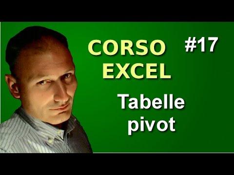Corso di Excel - Lezione 17 - Tabelle pivot