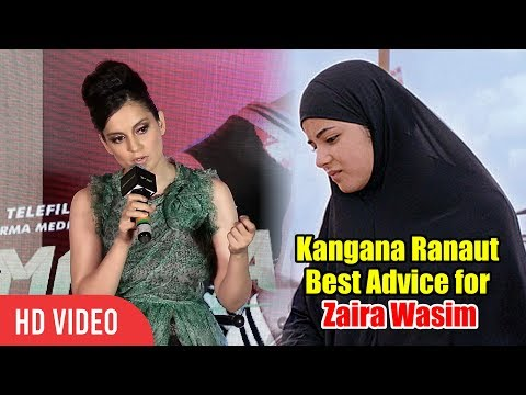 Kangana Ranaut Best Reaction on Zaira Wasim QUITS Bollywood for Islam Mp3
