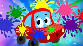 Little Red Car Rhymes - Color Song | Car Songs & Rhymes For Kids