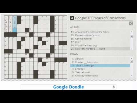 Crossword inventor (Google Doodle)