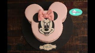 How to make a Minnie Mouse themed Birthday Cake / Minnie Mouse Geburtstagstorte