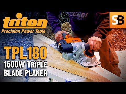 Triton TPL180 Triple Blade 1500w Power Planer