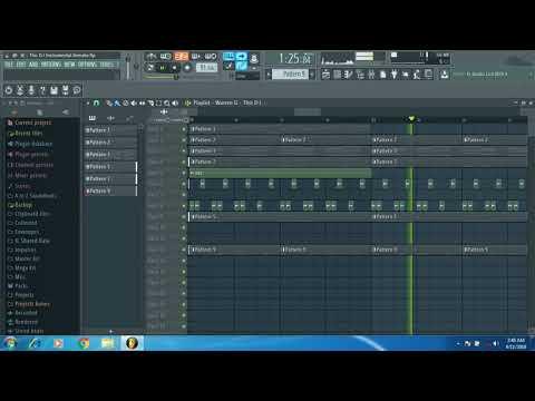 This DJ Warren G Instrumental In FL Studio Plus FLP