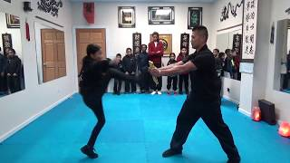Kung Fu Kids - Rear Thrust Kick Board Breaking Challenge