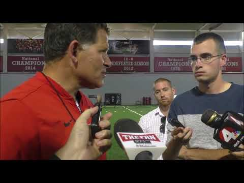 Ohio State DC Greg Schiano 8/23/17 - ELEVENWARRIORS.COM