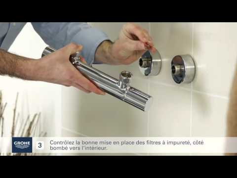 grohe guide installation mitigeur thermostatique douche 720 5mbit youtube. Black Bedroom Furniture Sets. Home Design Ideas