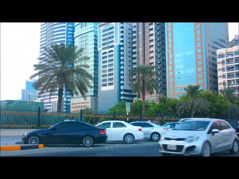 Buhaira Corniche Road Sharjah UAE - Beautiful with Skyscraper Buildings ❤