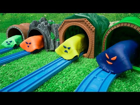 Thomas and Friends Toy Trains Surprise Play Doh Cars, Tayo with Learn Colors for Kids