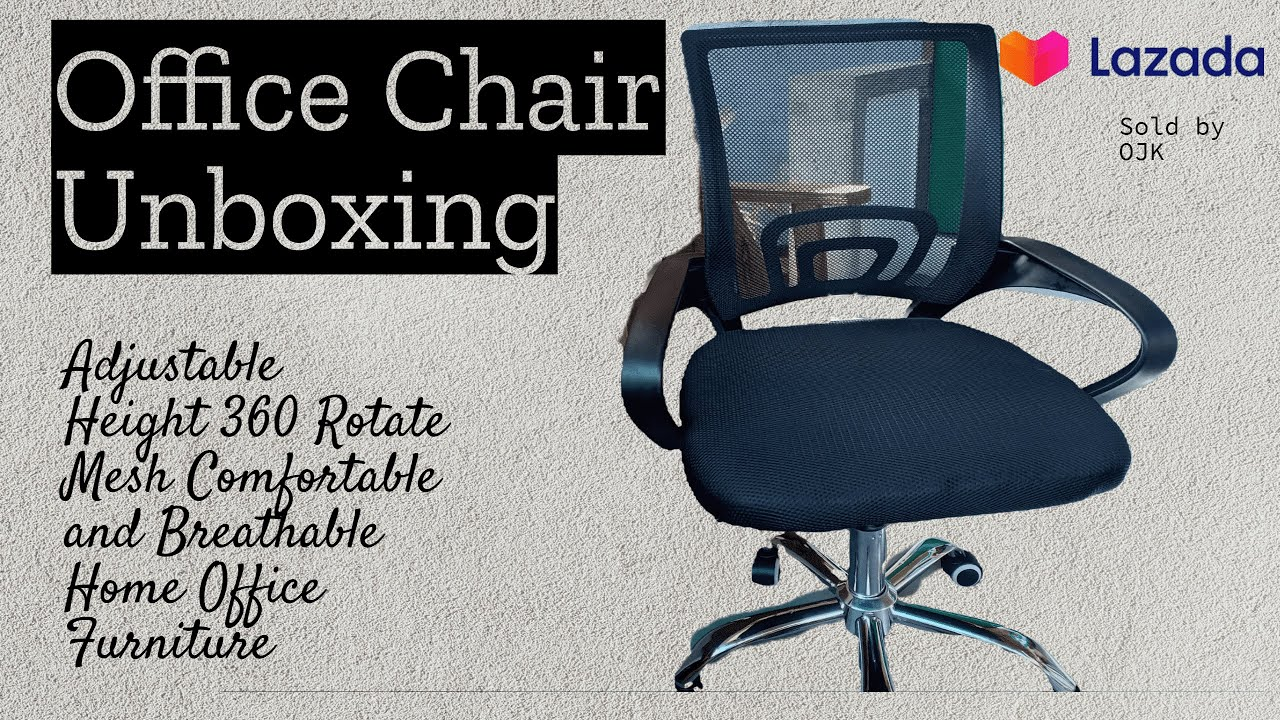 Delivery From Lazada Office Chair Unboxing Installation Steps Guide Youtube