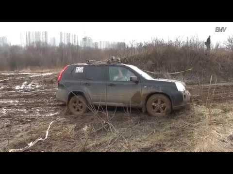 Nissan X-Trail-Club и все-все-все... в жиже 23.03.14 [x-trail-club.ru] Паркетный оффроад.