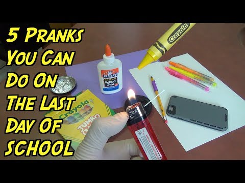 5 Pranks You Can Do At The End Of The School Year - HOW TO PRANK (Evil Booby Traps)