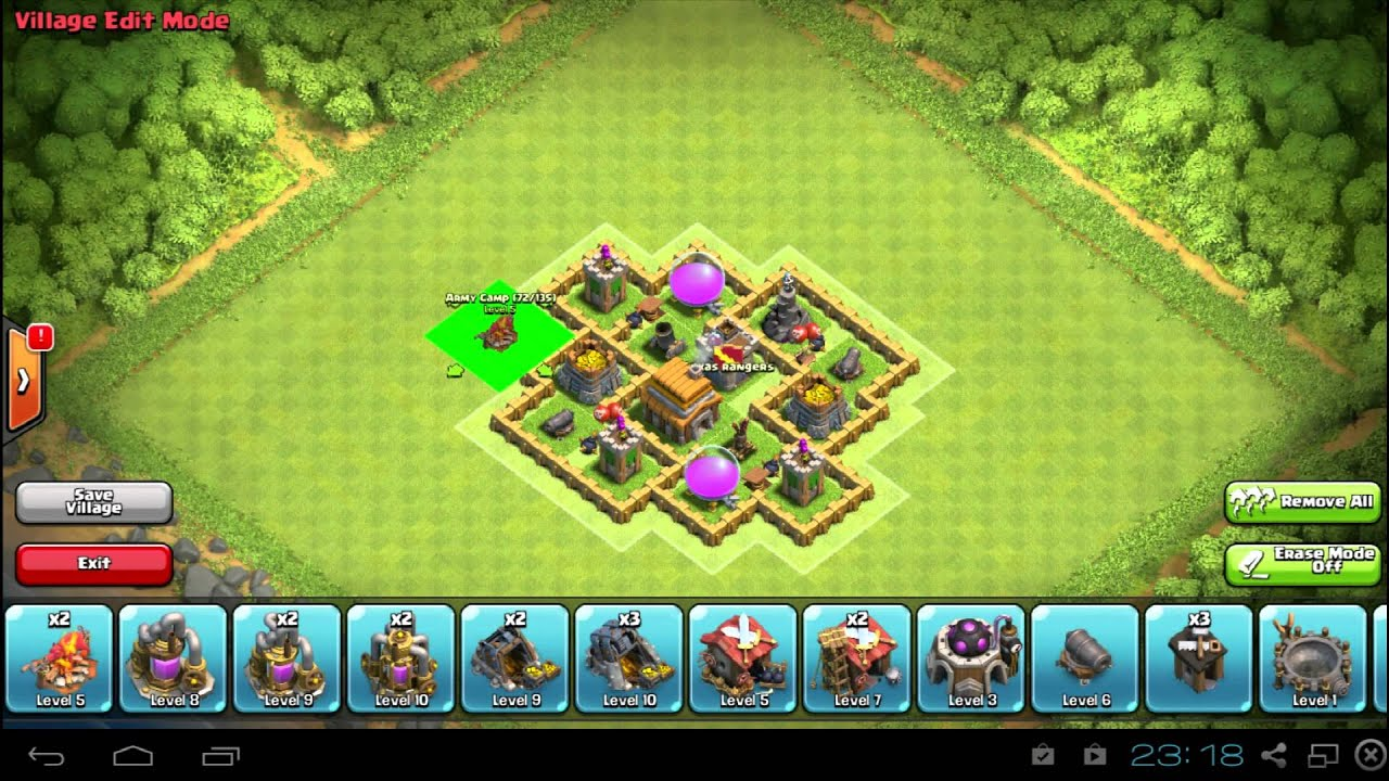clash of clans th5 hybrid base youtube