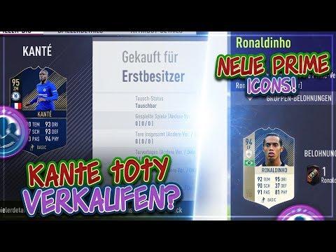 FIFA 18: Erstbesitzer KANTE TOTY verkaufen?! 🤔😳 Ronaldinho PRIME Icon + 3 Weitere neue Prime SBCs 🔥