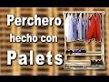 Perchero zapatero casero de madera hecho con palets
