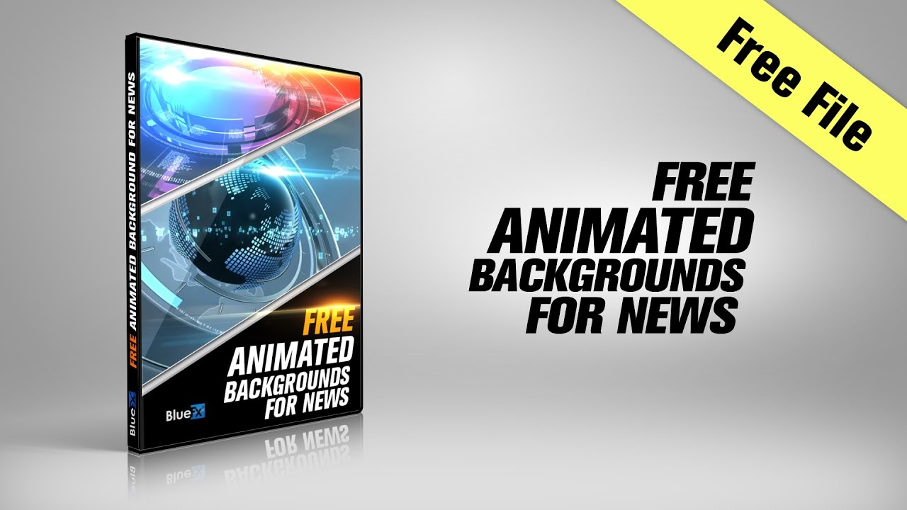 free after effects template 3 animated backgrounds for news