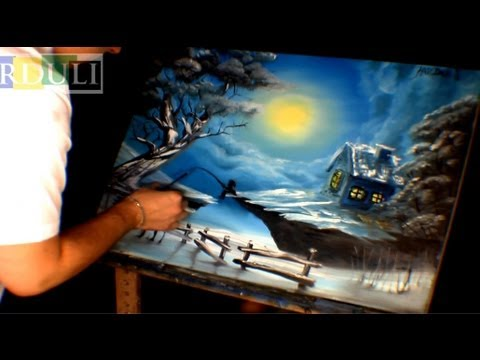 winter landscape oil painting youtube art show youtube